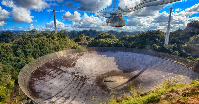 arecibo observatory dish viewed from above