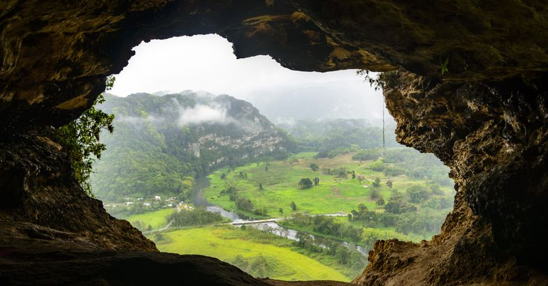 view looking out from cueva ventana