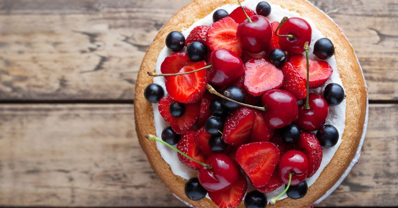 tart cake with berries on top