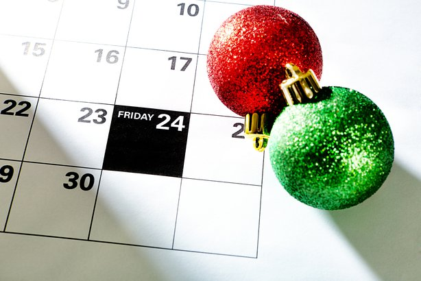 Thanksgiving Black Friday November 24 Christmas on calendar