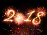 Happy New Year fireworks 2018