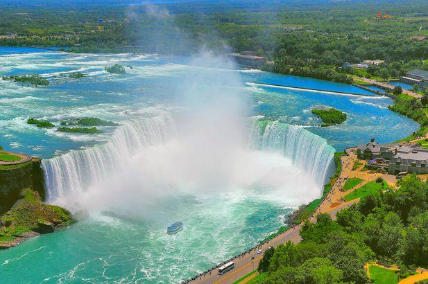 Beautiful Niagara falls.