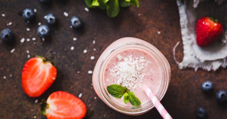 coconut blueberry slushie