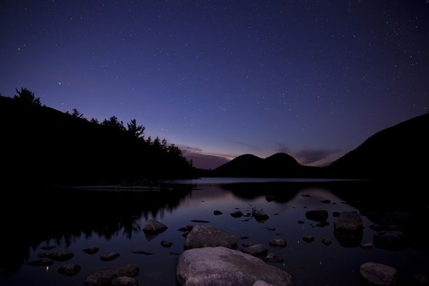 Jordan Pond at night