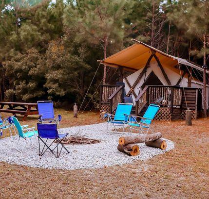 South Carolina: Glamping at Laurel Oaks