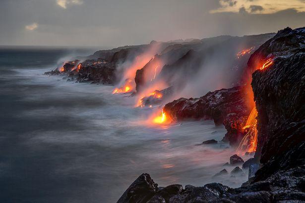 Lava flows Hawaii
