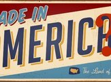 vintage looking metal sign reading, 'Made in America'