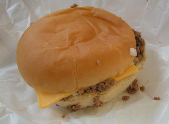 Maid-Rite loose meat sandwich