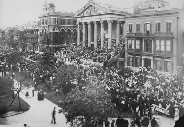 Mardi Gras parade circa 19th century