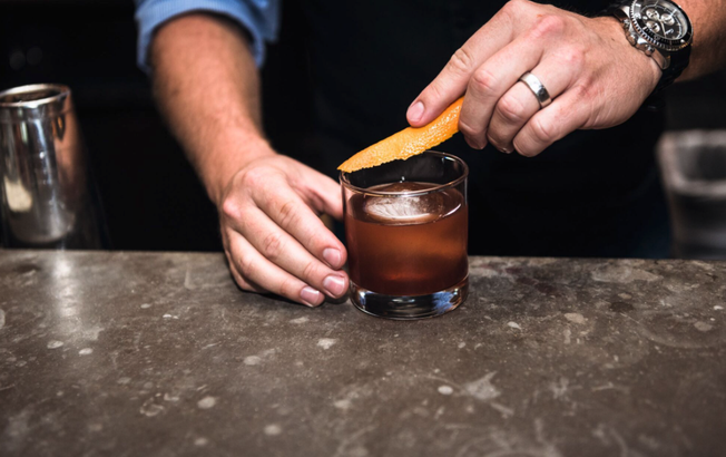 Mason's Old Fashioned cocktail