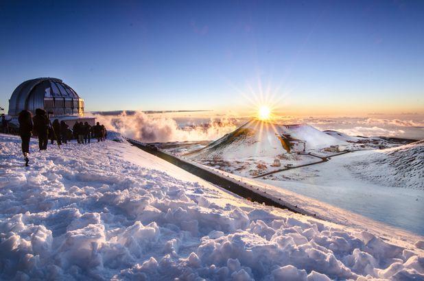 Mauna Kea in winter