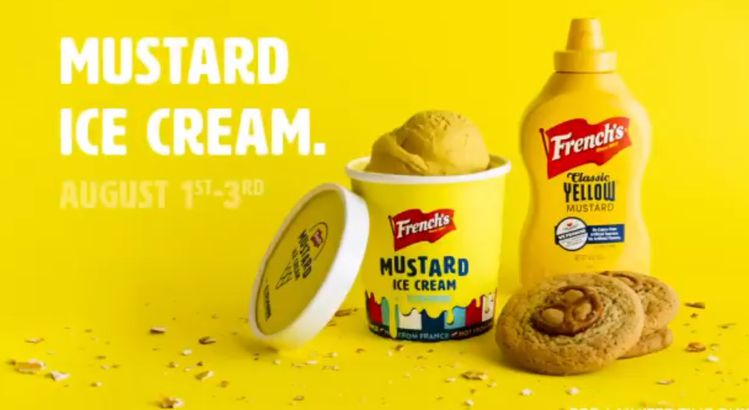 French's mustard ice cream