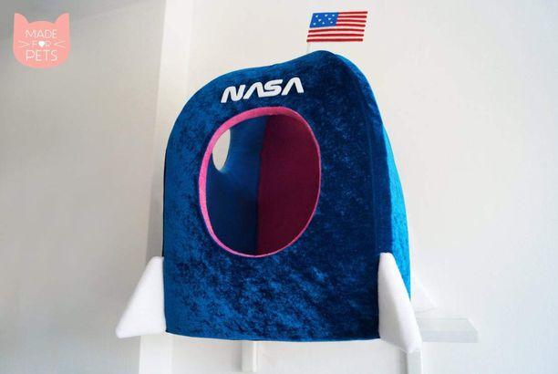 NASA Rocket Ship dog bed