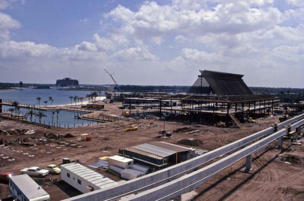 Disney's Polynesian Village Resort Construction