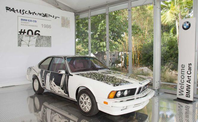 BMW art car designed by Robert Rauschenberg