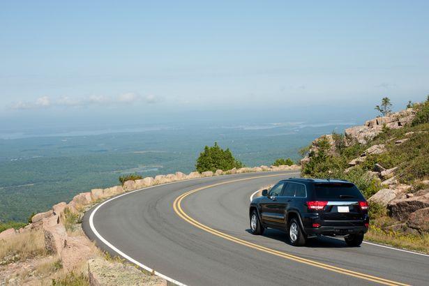 Scenic roadway Acadia