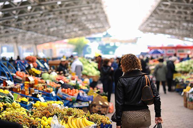 shopping at market