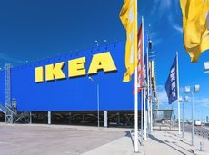 Ikea building outside on a sunny day