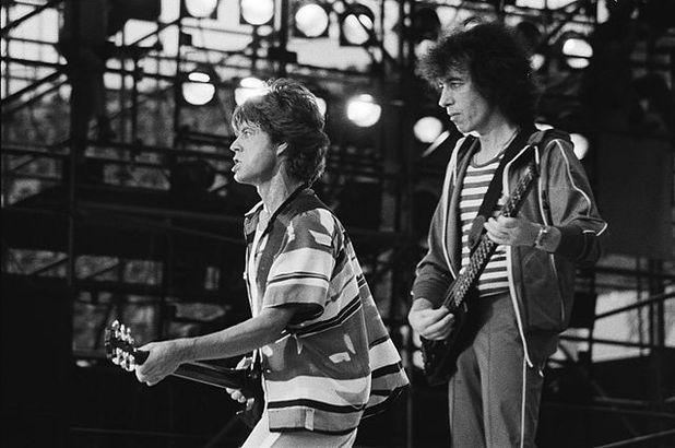Mick Jagger and Bill Wyman