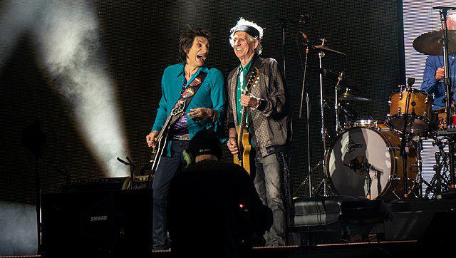 Keith Richards and Ron Wood in 2018
