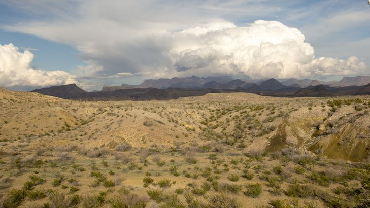 Storm clouds over the Chisos Mountains
