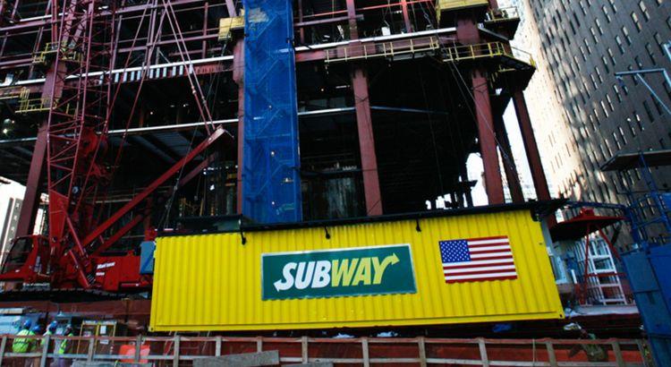 Subway storage unit in New York City