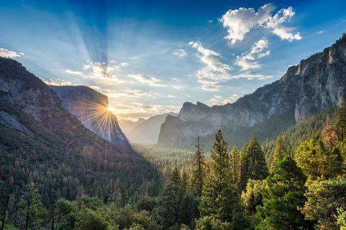 Sunrise over Yosemite