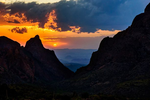 Sunset at The Window Big Bend