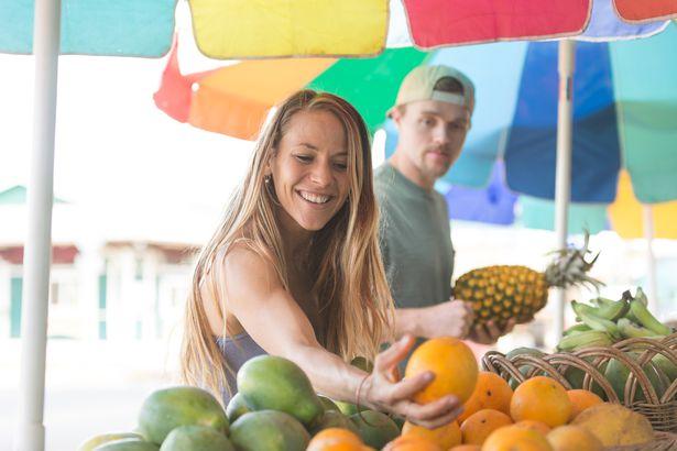 tropical fruit at market