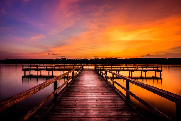 Tupelo Mississippi at sunset