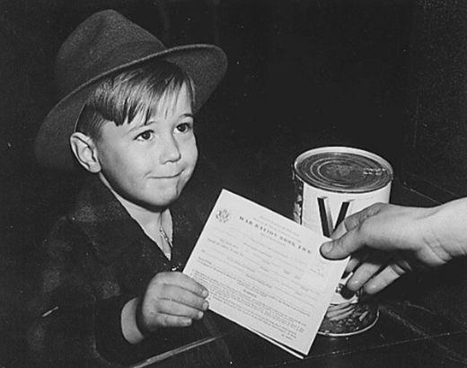 U.S. World War II ration card
