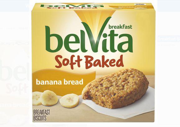 Belvita Soft Baked Banana Bread Breakfast Biscuits