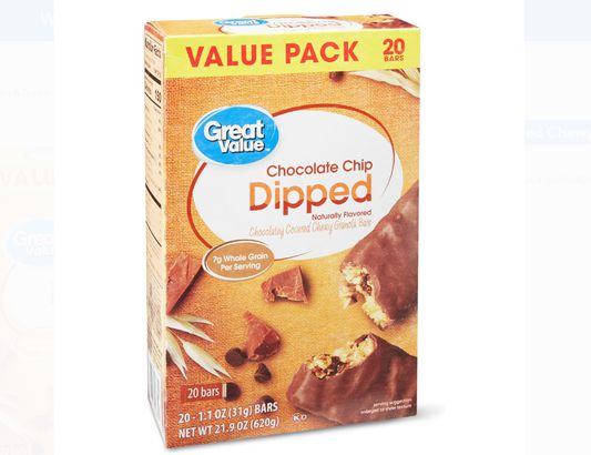 Great Value Chocolate Chip Dipped Chewy Granola Bars