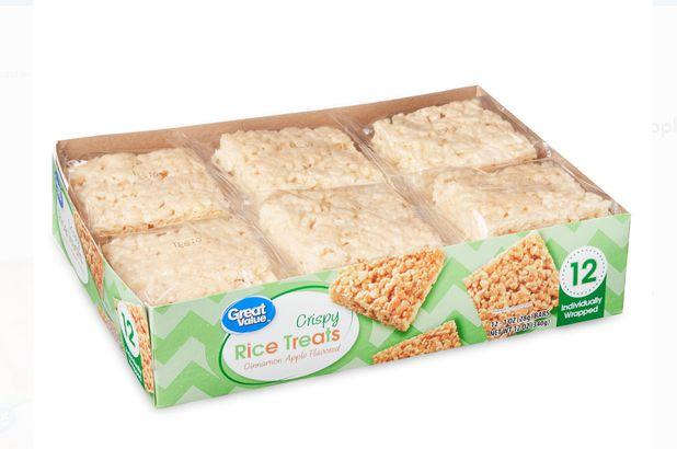 Great Value Crispy Apple Cinnamon Rice Treats