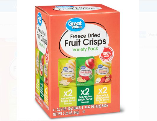 Great Value Freeze Dried Fruit Crisps