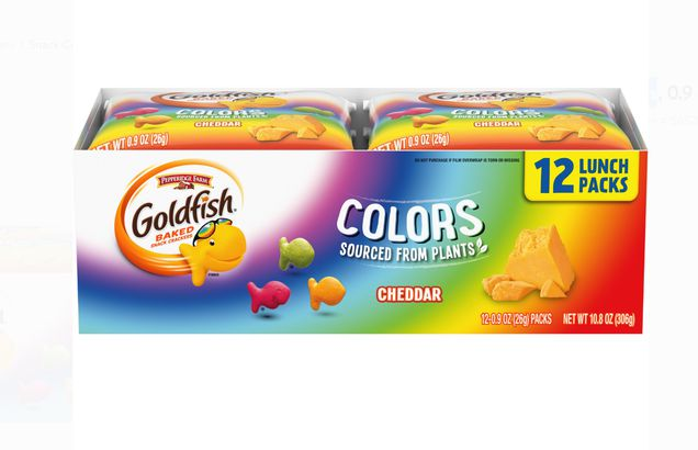 Goldfish Colors Cheddar Crackers Snack Packs