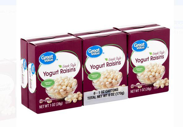 Great Value Greek Style Yogurt Raisins