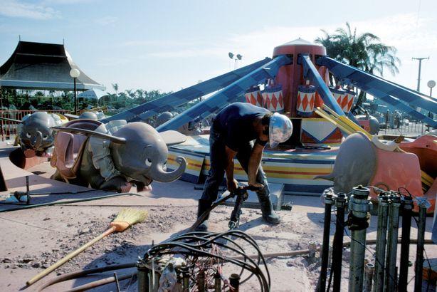 Dumbo the Flying Elephant Under Construction