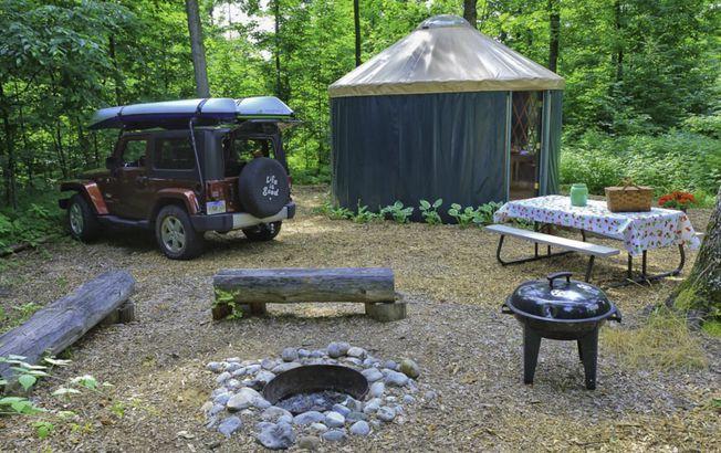 Michigan: Wild Cherry Resort's Wine Country Yurts