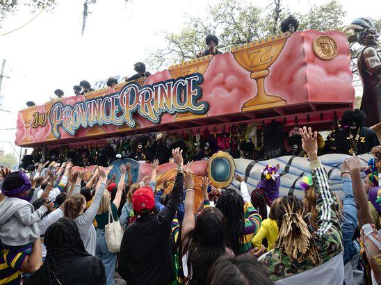 The Zulu Province Prince Krewe parade